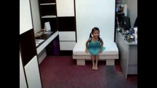 1)HWB-Sofa or MutiPurpose CUSHION BENCH infront of HiddenWallBed:Bench-Sofa-CoffeeTable-kid'sTable