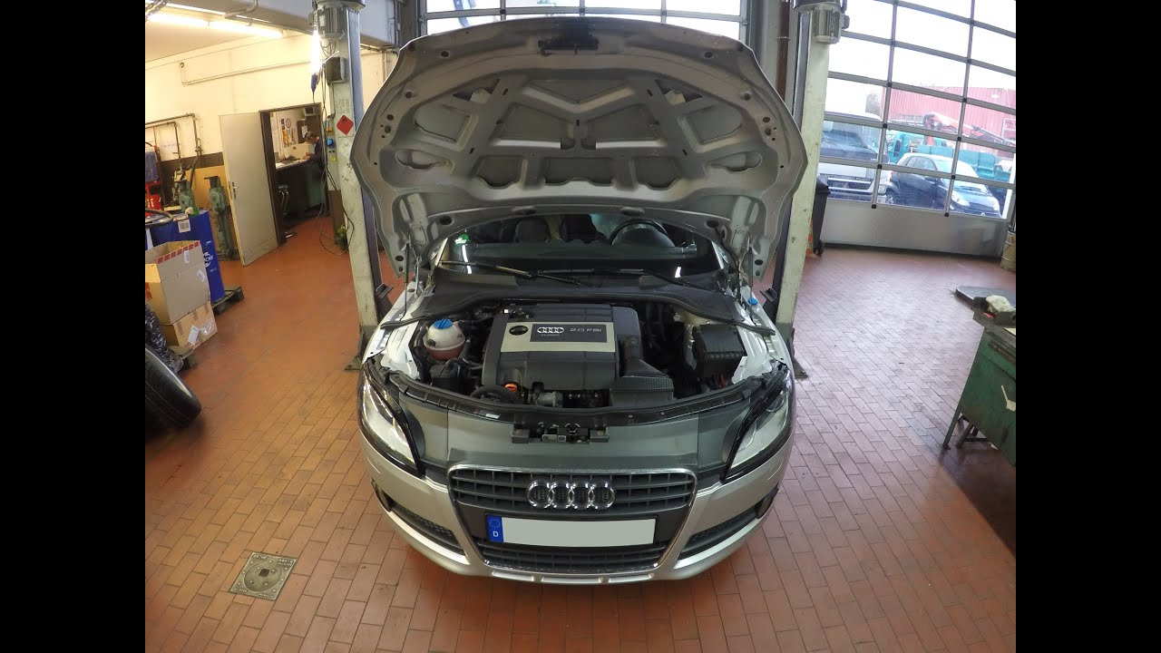 audi tt  tfsi oil change youtube
