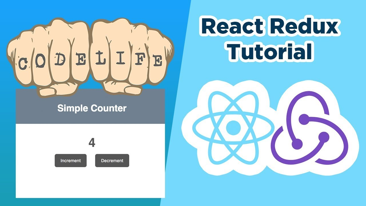 React Redux Tutorial – Simple Counter App | Coding Videos