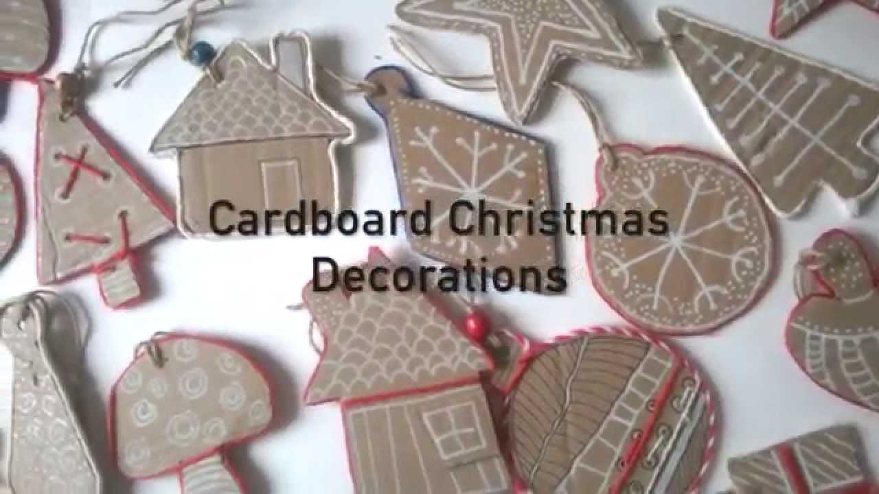 diy cardboard christmas decorations - YouTube