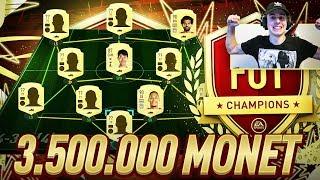 MÓJ SKŁAD NA PIERWSZE FUT CHAMPIONS W FIFIE 20! *3.500.000 MONET*