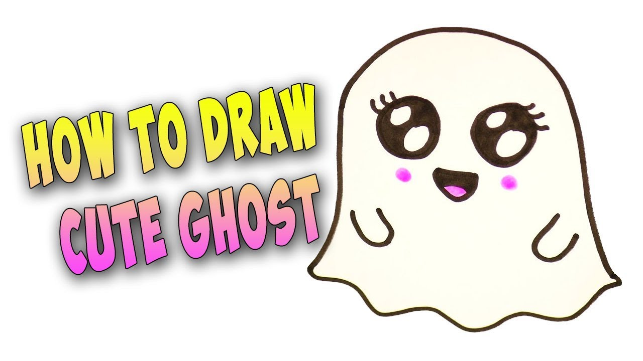 How To Draw A Cute Ghost Youtube #mabs drawlloween club #mabsdrawlloweenclub #ghost #space #cute ghost. how to draw a cute ghost