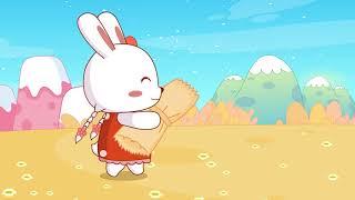 兔小贝儿歌 584 拾稻穗的小姑娘
