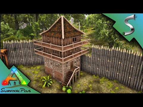 THE LOOKOUT TOWER! PLUS NEW BASE WALLS AND SCAFFOLDING! - Ark: Survival Plus [Gameplay E29]