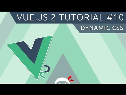 Vue JS 2 Tutorial #10 - Dynamic CSS Classes