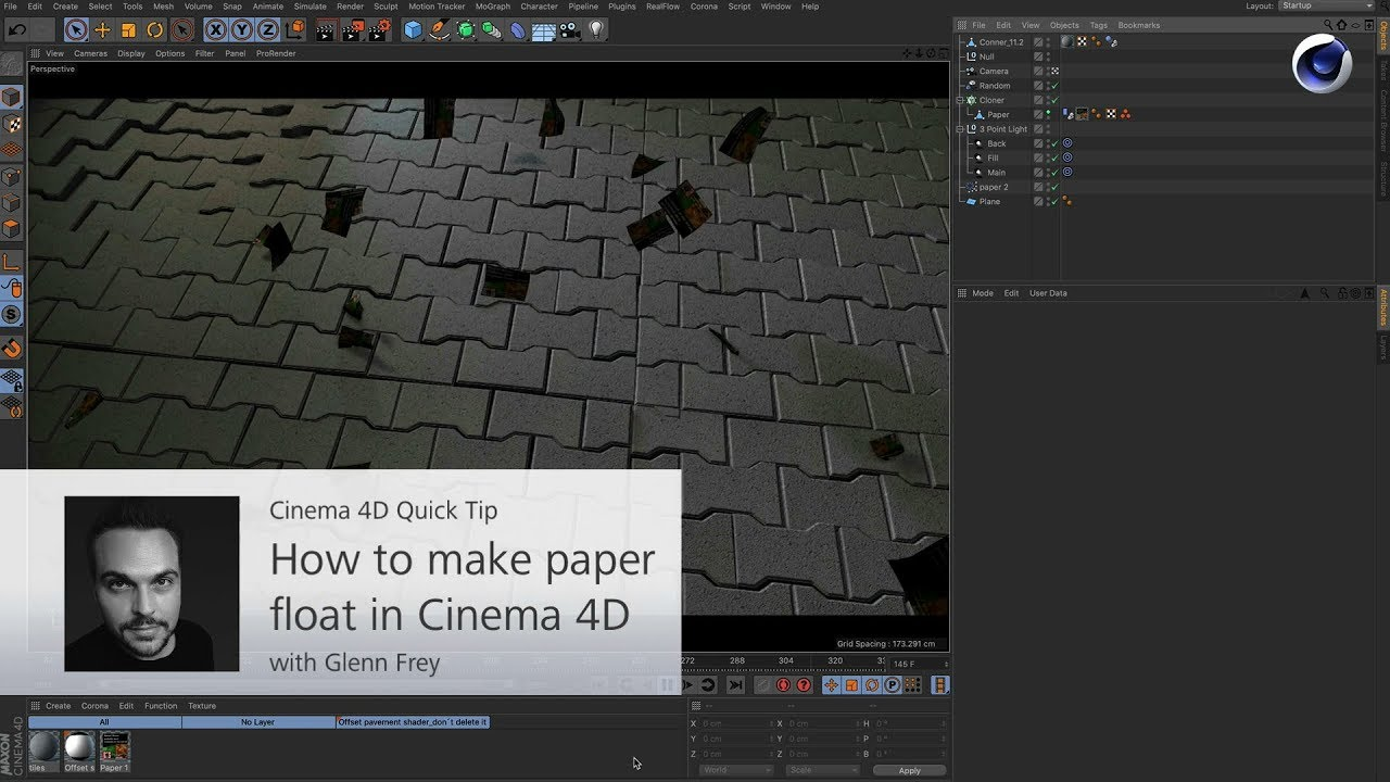 How to Have Paper Float on Air in Cinema 4D - Lesterbanks