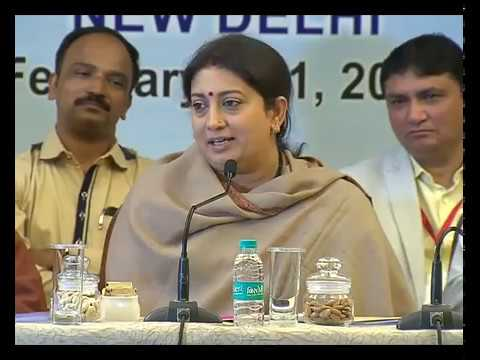 Union Minister Smriti Irani addresses PTI Employees' Unions