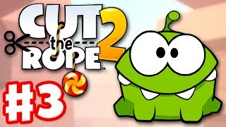 Cut the Rope 2 - Gameplay Walkthrough Part 3 - Sandy Dam! 3 Stars! (iOS, Android)