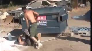 FELONY FIGHTS White and Mexican Fight with sticks and chains