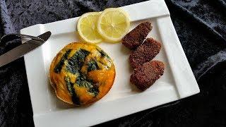 PurzelPfund präsentiert: Low Carb Fischnuggets mit Spinat & Ei
