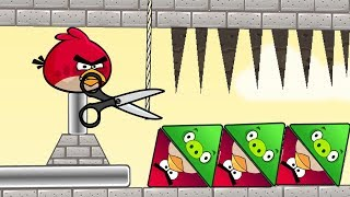 Angry Birds Piggies Out - CUT ROPE LET TRIANGLE PIGS DOWN TO RESCUE TRIANGLE BIRDS!