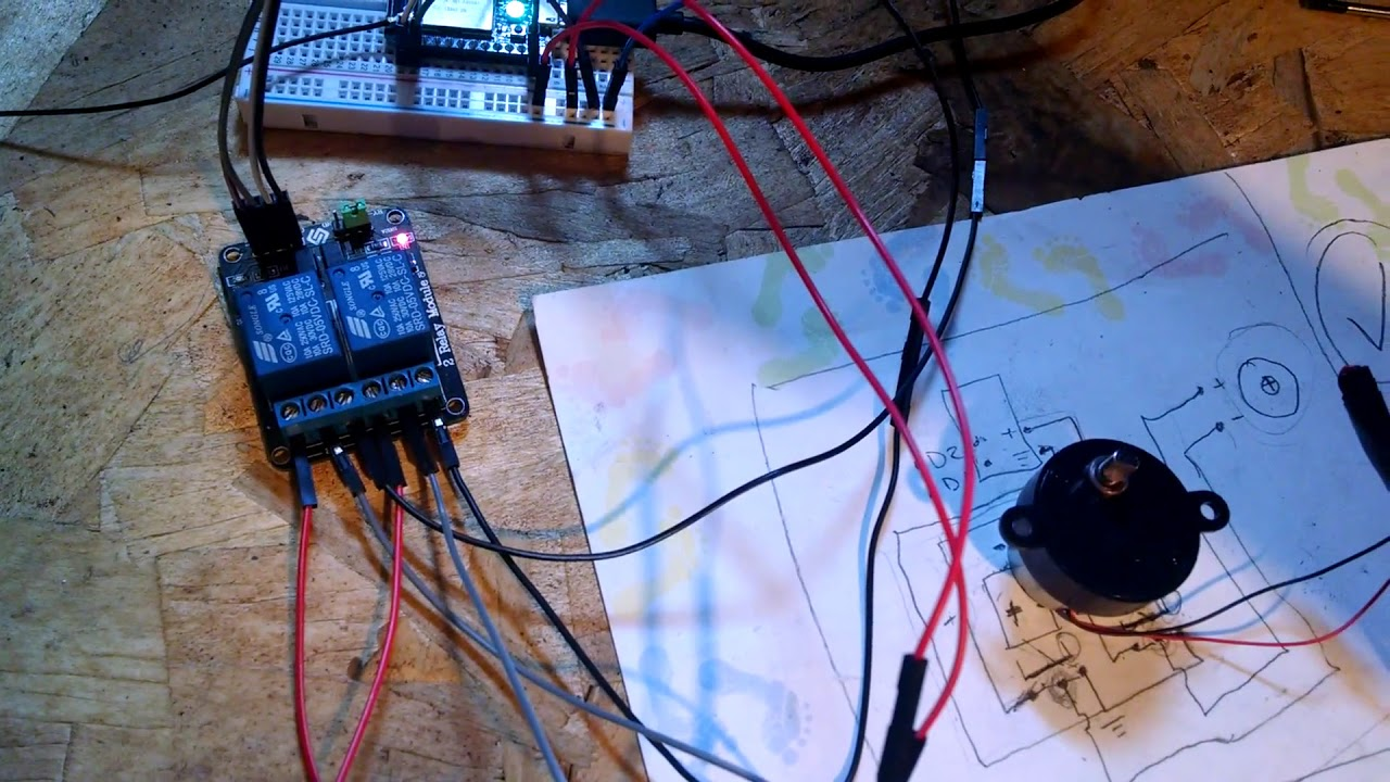 Reverse polarity motor operation with spark core and 2 relay shield