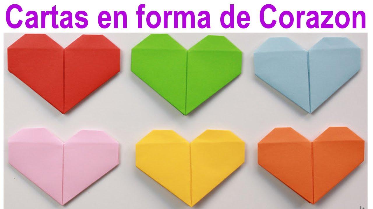 Manualidades: Cómo hacer tus cartas en forma de corazón - Lina - YouTube