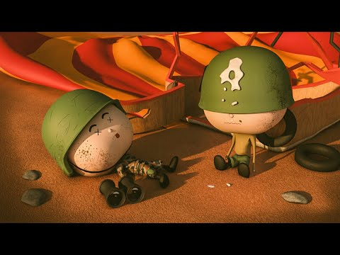 BOBBLEHEAD SOLDIERS RIDE AN AIR BALLOON - 3D Animated Short
