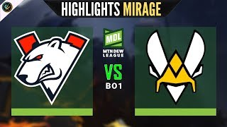 Virtus Pro vs Vitality Highlights Mirage ESEA MDL Season 31 VP vs Team Vitality