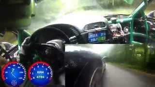 Burke I hillclimb 2014 - Corvette spin - Frog Racing