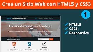 💎 Diseña un Sitio Completo con HTML5 y CSS3 Parte 1 - Etiquetado