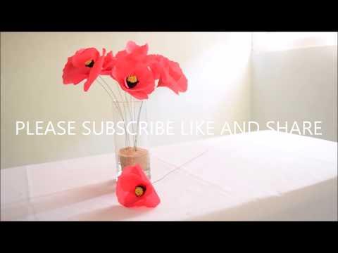 Diy paper poppy flower simple paper flower youtube mightylinksfo Gallery