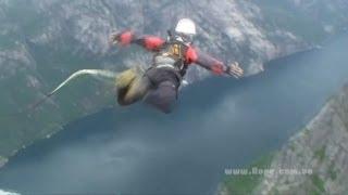 Extreme спорт Роупджампинг: Прыжки Rock&Rope в Норвегии