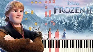 Lost In The Woods  Jonathan Groff  - Frozen 2 | Piano Tutorial  Synthesia