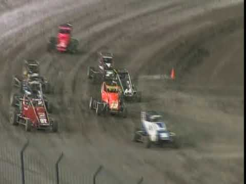 Knoxville Midget Nationals featuring USAC Midget stars. Kevin Swindell drives the Keith Kunz 67 to the win! - dirt track racing video image