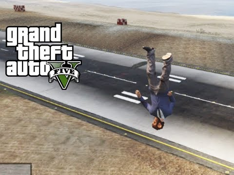 GTA 5 Online Car Tire Launch Glitch with...