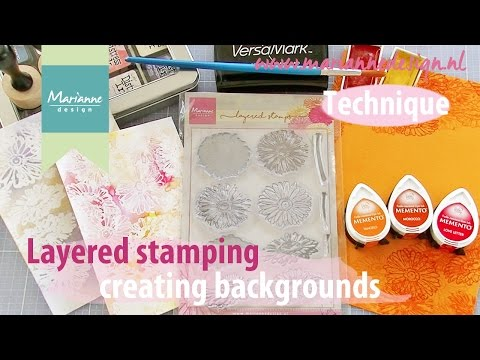 Layered Stamping - Creating backgrounds with stamps
