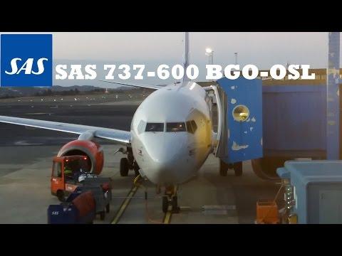 SAS 737-600 Bergen(ENBR/BGO)- Oslo(ENGM/OSL) (Wingview)