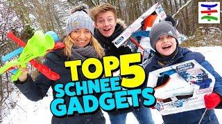 TOP 5 Snowball Gadgets ☃️ BEST OF Schnee Spielzeug ❄️ TipTapTube 😁 Familienkanal 👨👩👦👦