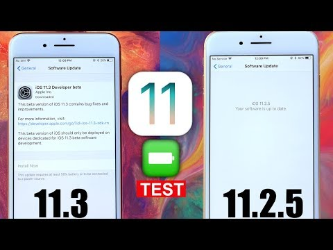 iOS 11.2.5 Vs iOS 11.3 Battery Test | it's Looking Good