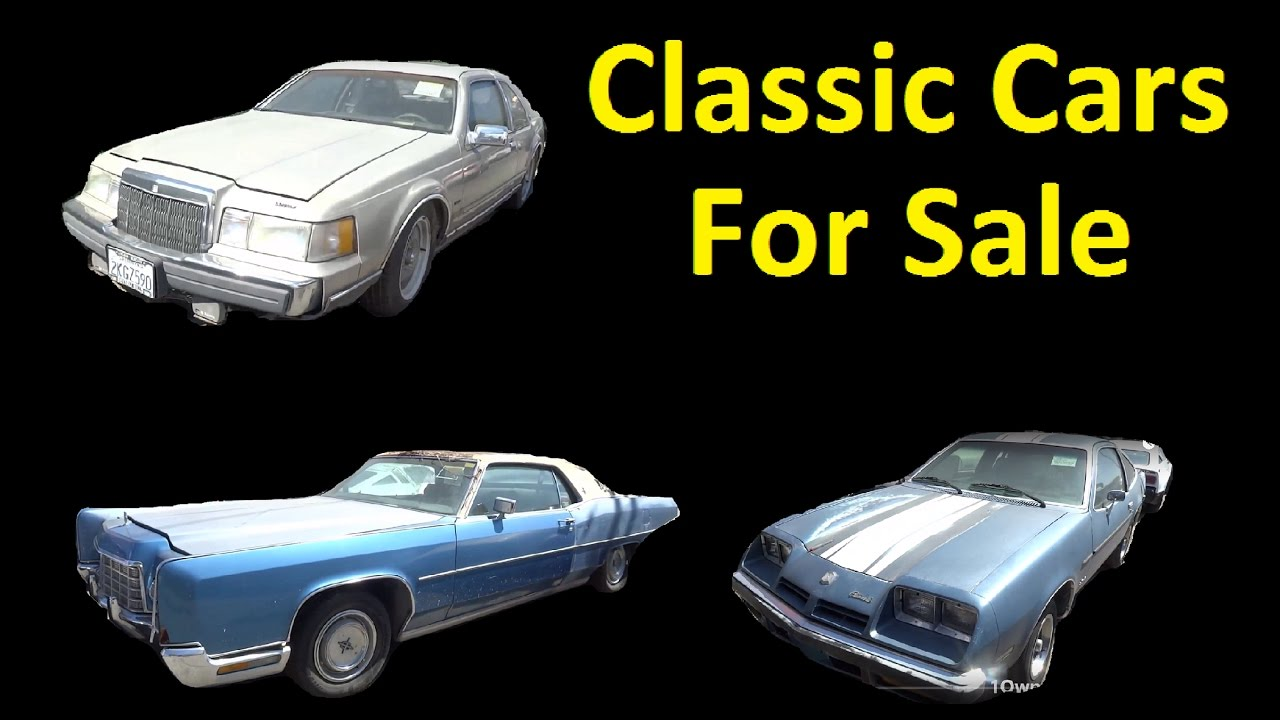 Classic Cars For Sale ~ Buy old Project Car lot - YouTube
