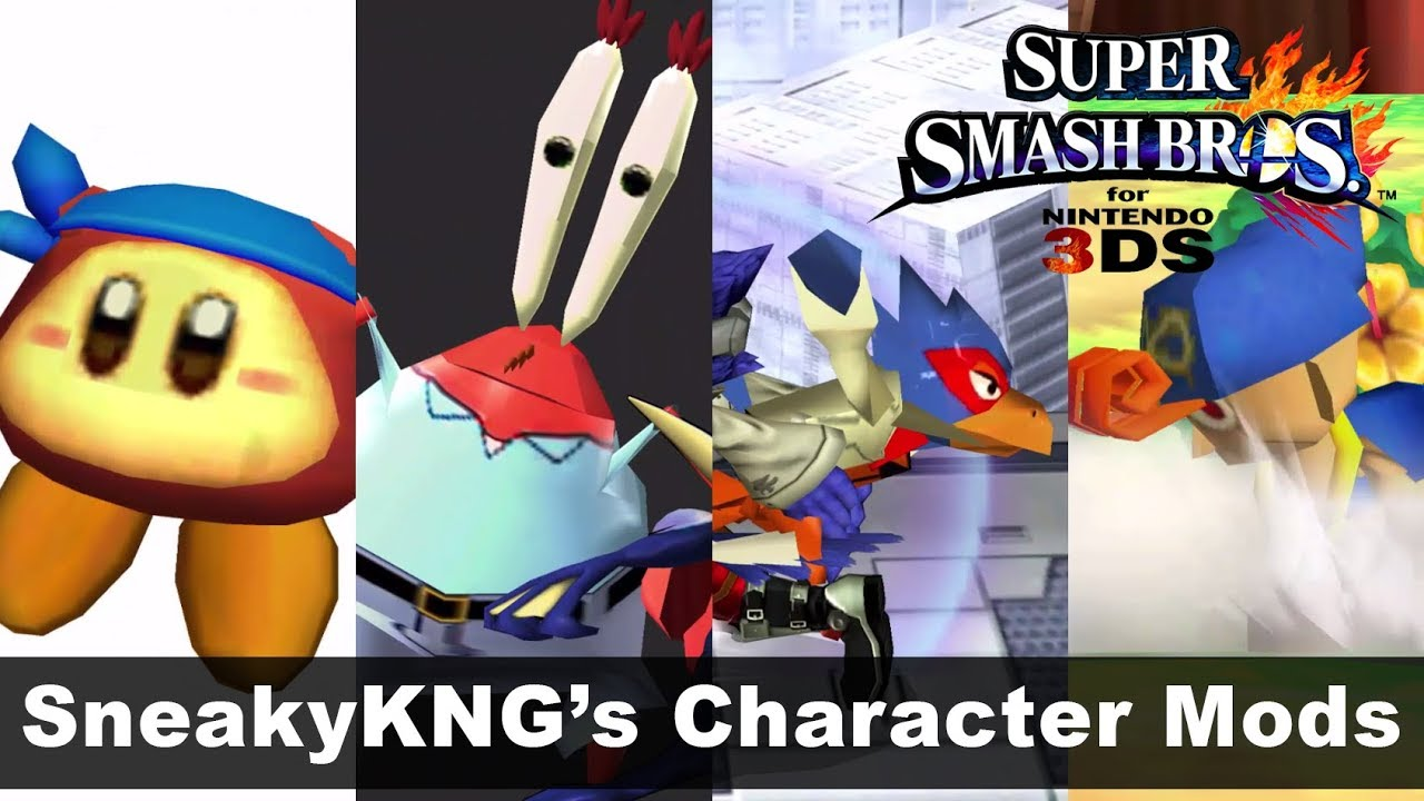 More Character Imports Super Smash Bros 3ds Mod 9 By Smash