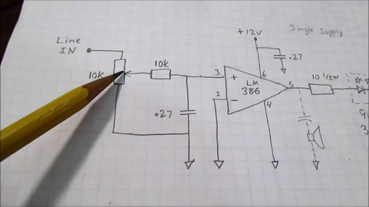 Led Strobes To The Music Beat Simple Circuit Youtube This Is A Audio Preamplifier Using Single Transistor