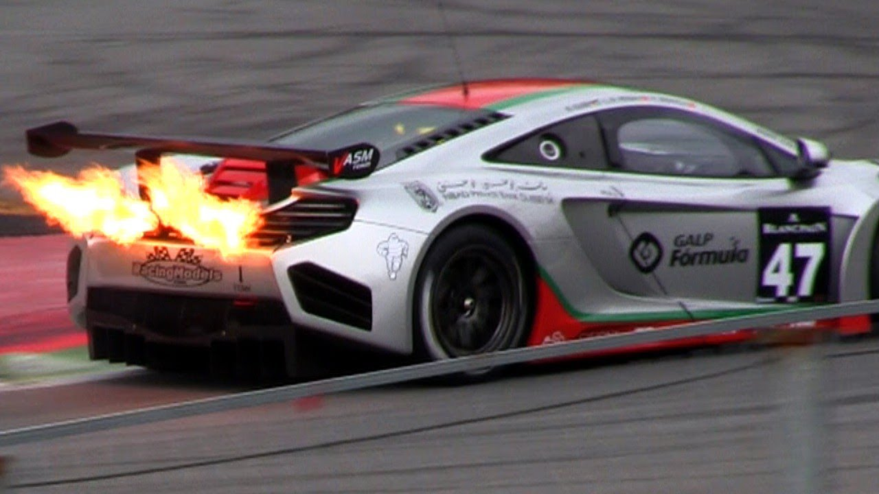 The Ultimate Flame Thrower The Mclaren Mp4 12c Gt3 Youtube