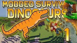 Minecraft: Modded Dinosaur Survival Let's Play w/Mitch! Ep. 1 - DINOS RETURN! SEASON 2!