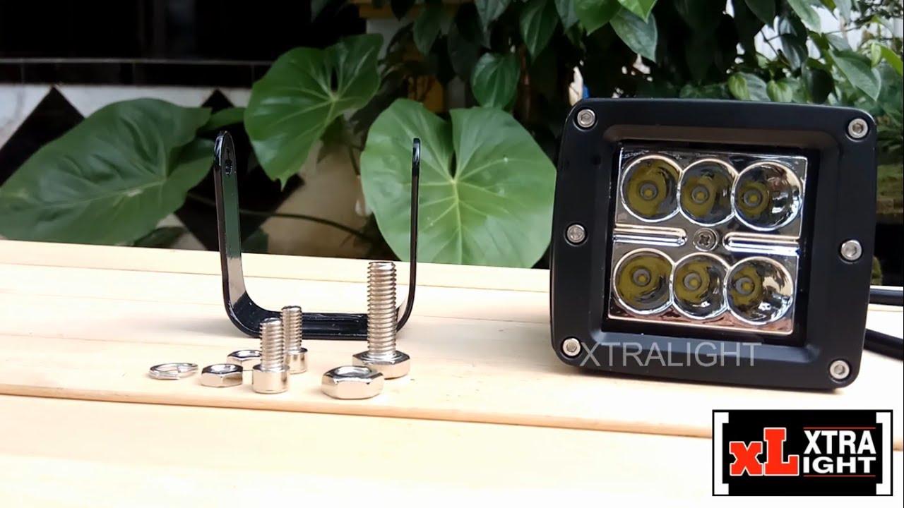 New Cwl 18 Watt Cree Work Light By Xtralight Youtube Lampu Tembak 2mata Sj0021