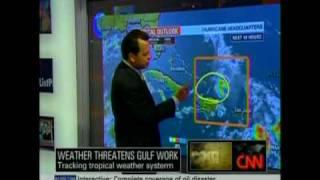 July 21, 2010 CNN Anderson Cooper: Weather Threatens Gulf Worlk - Part 5 of 7