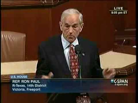 Ron Paul ~ Unhappy About The Senate Vote on the Vitter Amendment to Audit the Fed