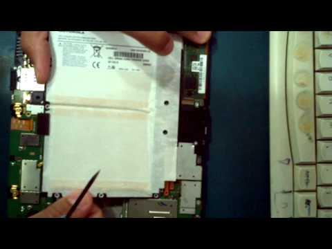 MOTOROLA XOOM - MZ605 - DESMONTANDO