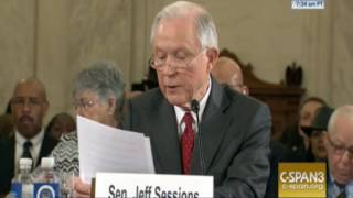 Sessions Addresses Race Issue Straight-On Jan 10 2017 Free HD Video
