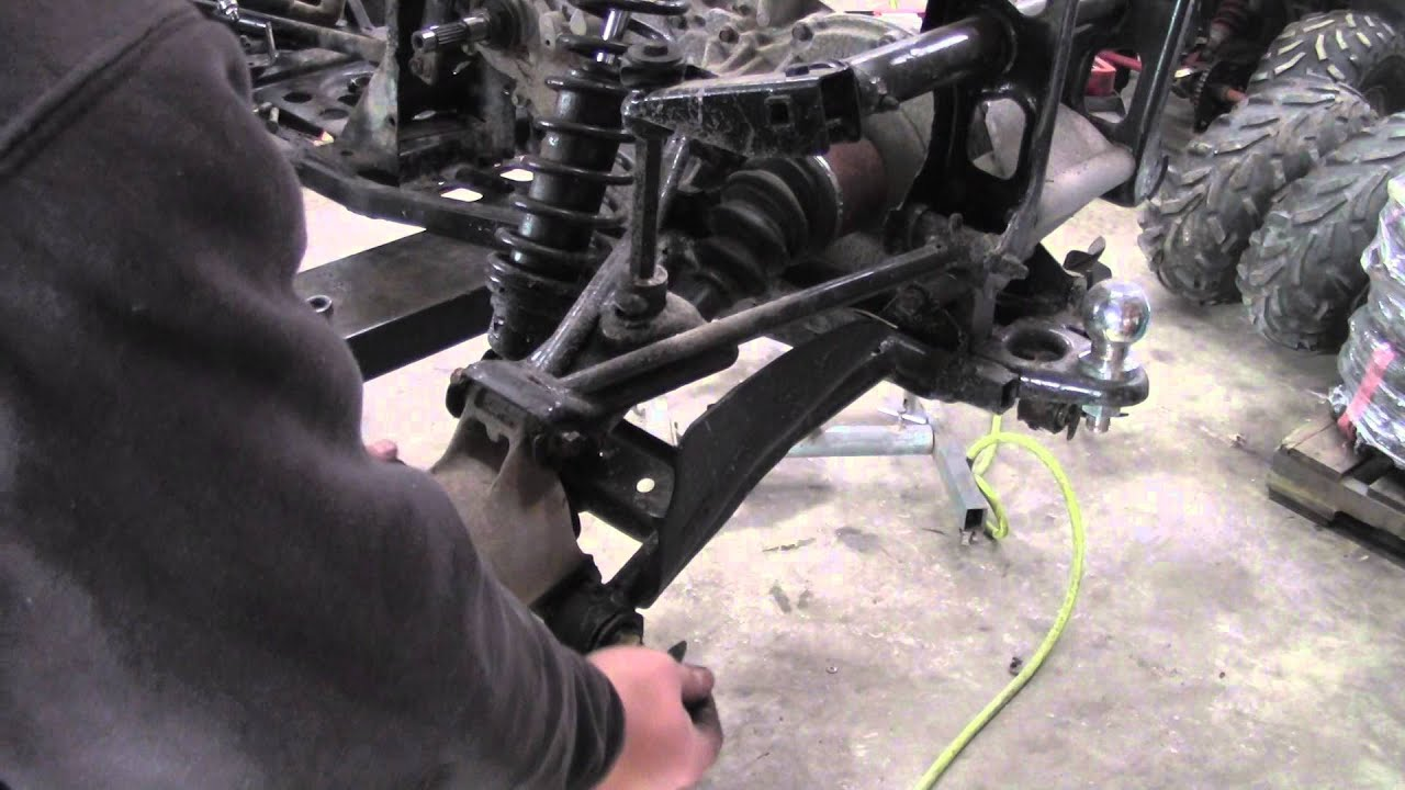 How To Remove Rear Cv Axle From Polaris Sportsman Atv Youtube Joint Diagram