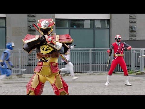 Power Ranger Super Ninja Steel | Ranger Amarillo Modo Leon Fuego | Episodio 16