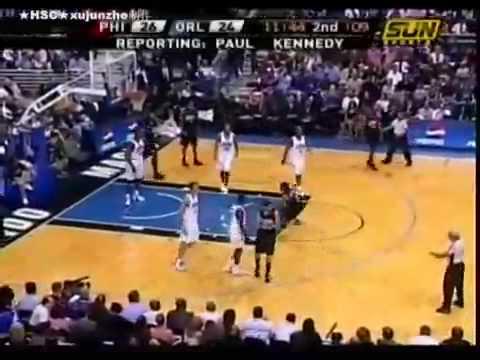 Allen Iverson makes crazy shot over Dwight Howard