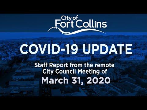 view COVID-19 Update 3/31/20 video