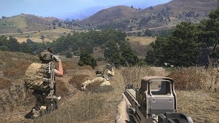 US Marines in Epic Firefight in the Mountains ! Military Simulator Game on PC Arma 3