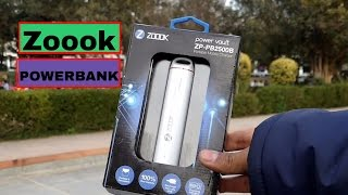 Zoook 2500 mAh Powerbank Unboxing and Over Look