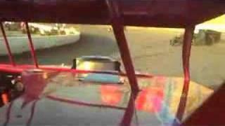 I-55 Raceway Modified Heat Race In-Car Footage 6-7-2008