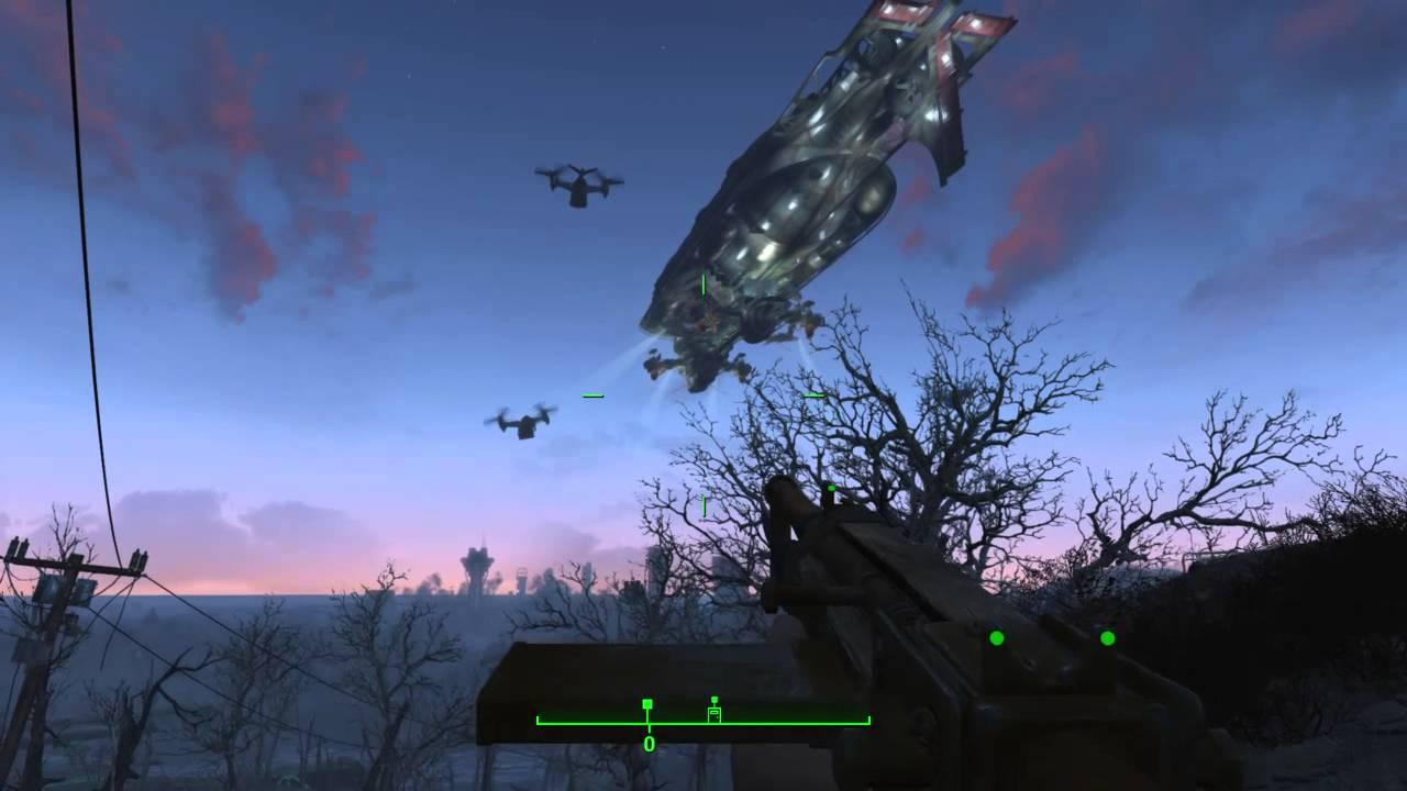 Fallout 4 Brotherhood Of Steel Airship Youtube