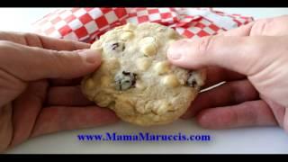 Mama Marucci's White Chocolate Chip Cookies With Roasted Macadamia Nuts And Montgomery Cherries.avi