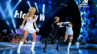 Madonna, Britney Spears and Christina Aguilera - (Like A Virgin Hollywood Medley) MTV VMA 2003 HD